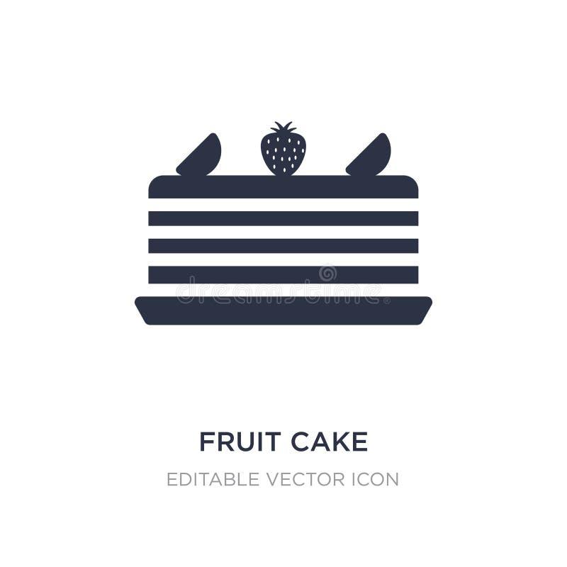 ícone do bolo do fruto no fundo branco Ilustração simples do elemento do conceito do alimento ilustração do vetor