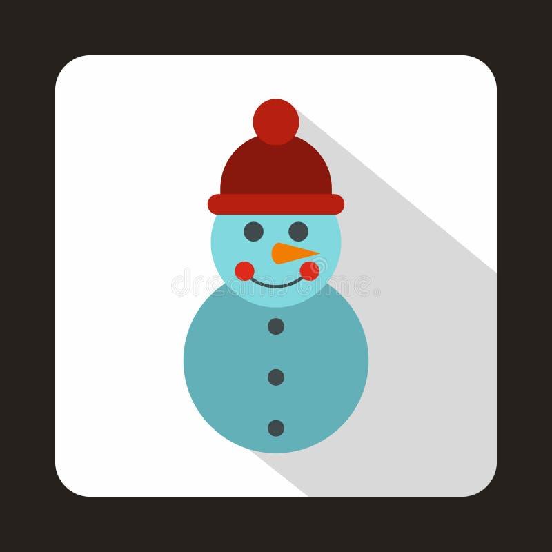 Ícone do boneco de neve no estilo liso ilustração royalty free