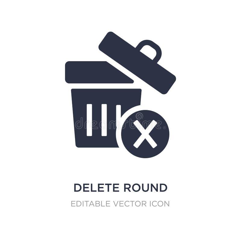 ícone do botão do círculo da supressão no fundo branco Ilustração simples do elemento do conceito de UI ilustração do vetor
