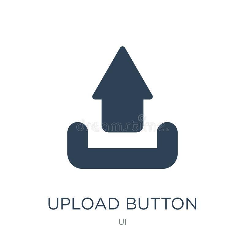 ícone do botão da transferência de arquivo pela rede no estilo na moda do projeto ícone do botão da transferência de arquivo pela ilustração stock