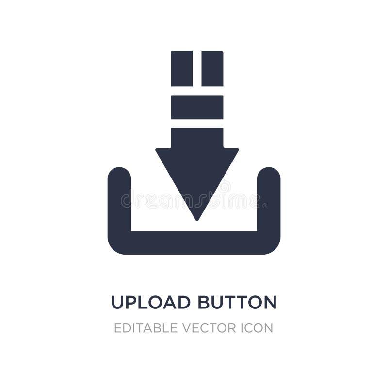 ícone do botão da transferência de arquivo pela rede no fundo branco Ilustração simples do elemento do conceito de UI ilustração stock