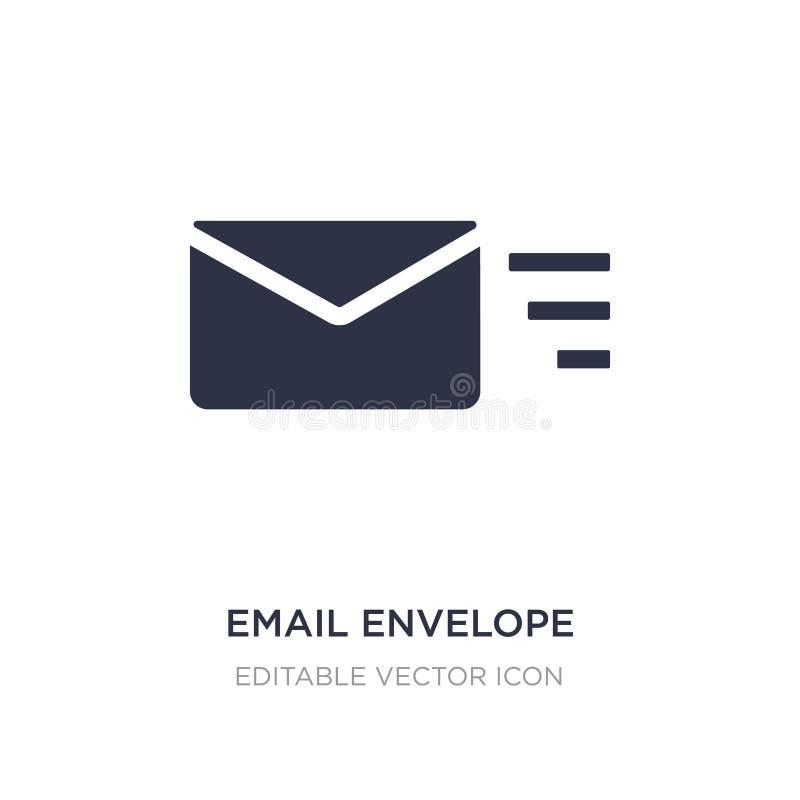 ícone do botão do envelope do e-mail no fundo branco Ilustração simples do elemento do conceito de UI ilustração do vetor