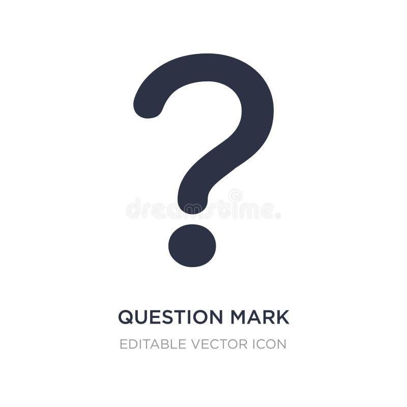 ícone do botão do ponto de interrogação no fundo branco Ilustração simples do elemento do conceito dos sinais ilustração do vetor