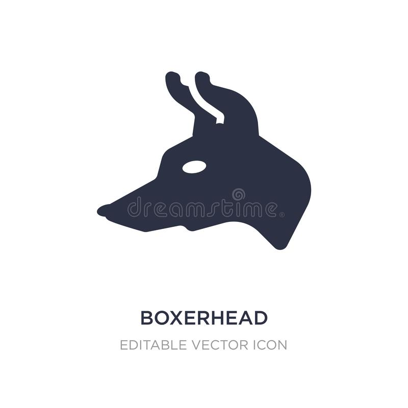 ícone do boxerhead no fundo branco Ilustração simples do elemento do conceito dos animais ilustração do vetor