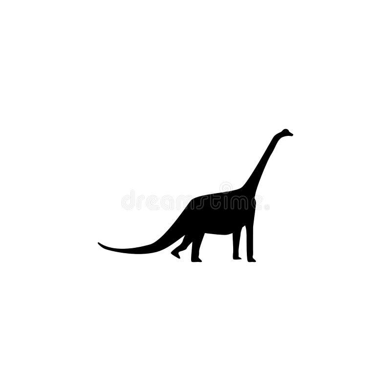 Ícone do Brachiosaurus Elementos do ícone do dinossauro Projeto gráfico da qualidade superior Sinais e ícone para Web site, Web d ilustração do vetor