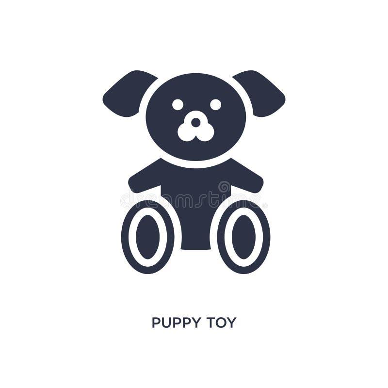 ícone do brinquedo do cachorrinho no fundo branco Ilustração simples do elemento do conceito dos brinquedos ilustração royalty free