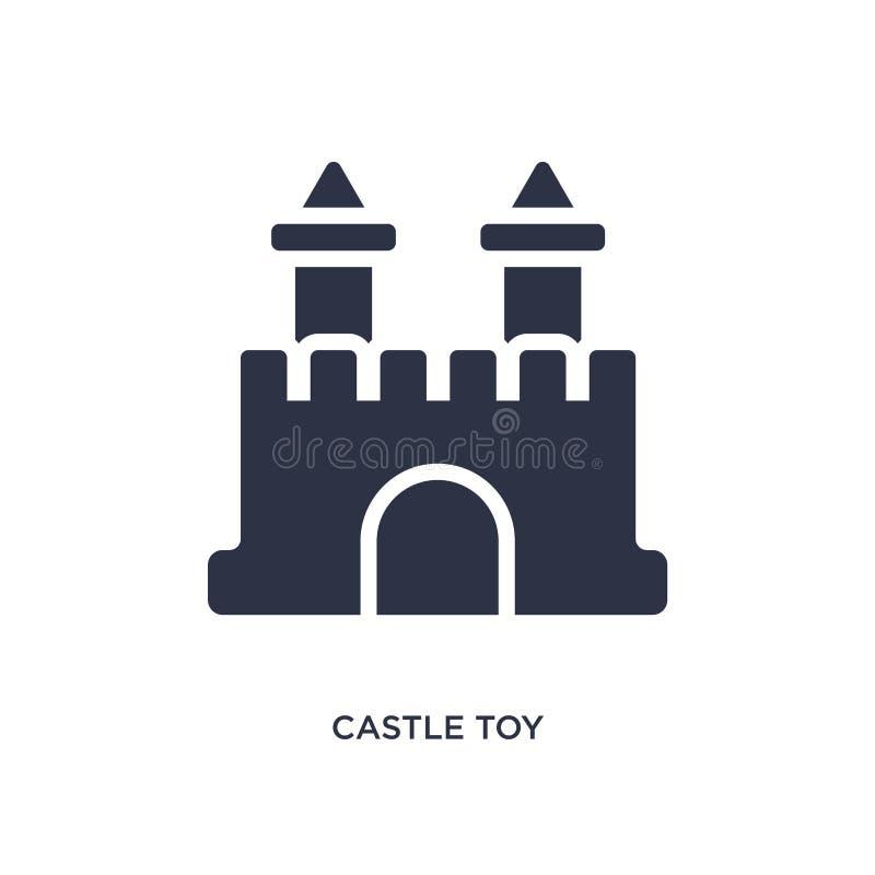 ícone do brinquedo do castelo no fundo branco Ilustração simples do elemento do conceito dos brinquedos ilustração do vetor