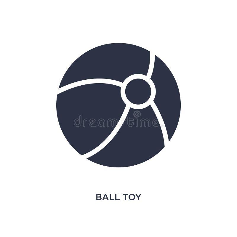 ícone do brinquedo da bola no fundo branco Ilustração simples do elemento do conceito dos brinquedos ilustração royalty free
