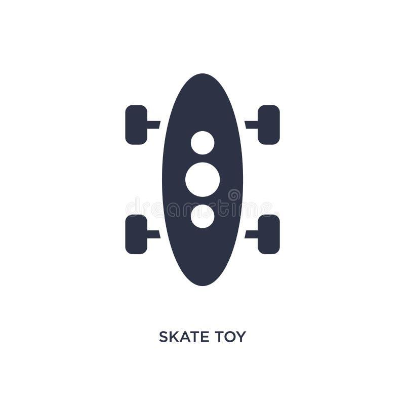 ícone do brinquedo do patim no fundo branco Ilustração simples do elemento do conceito dos brinquedos ilustração royalty free