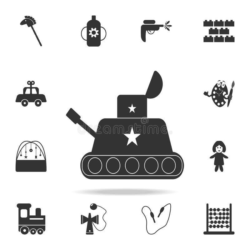 Ícone do brinquedo do tanque O grupo detalhado de bebê brinca ícones Projeto gráfico da qualidade superior Um dos ícones da coleç ilustração royalty free