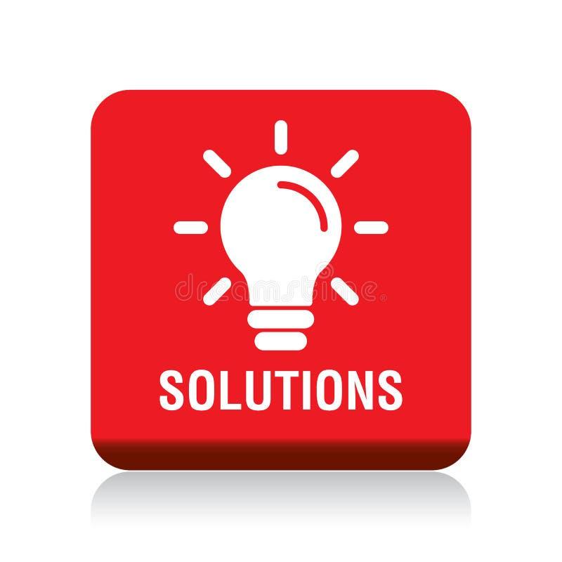 Ícone do bulbo das soluções ilustração do vetor