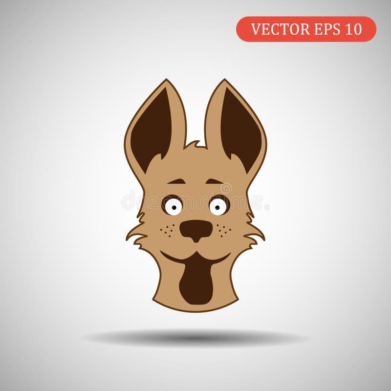Ícone do cão da cor Ilustração Eps 10 do vetor ilustração do vetor