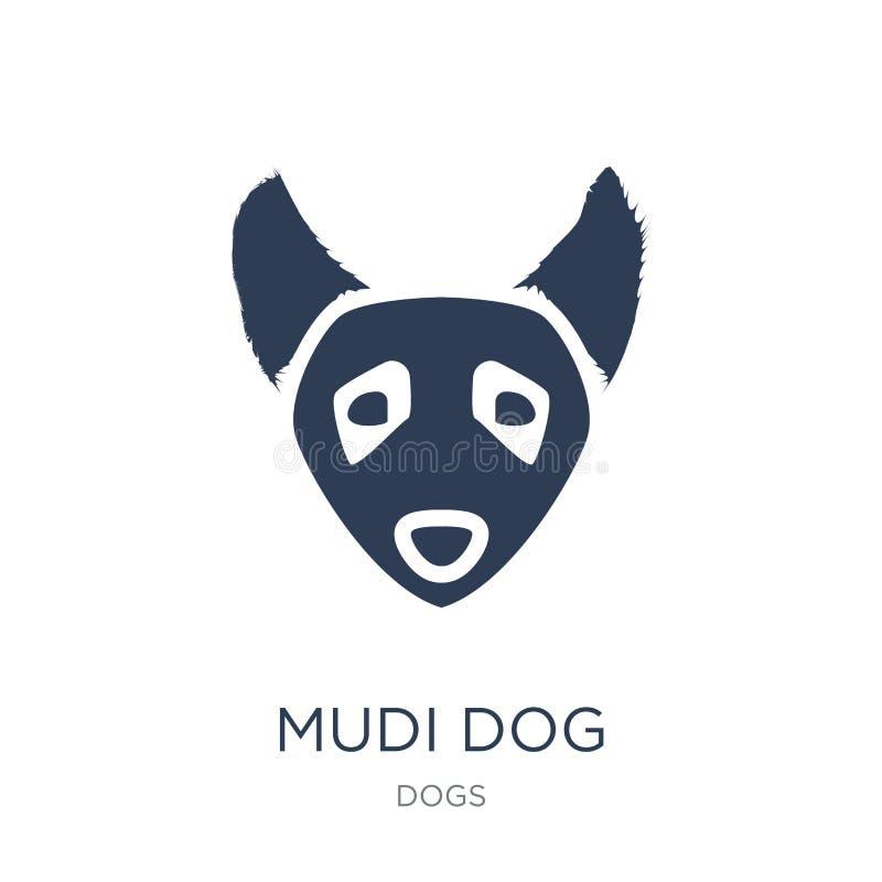 Ícone do cão de Mudi Ícone liso na moda do cão de Mudi do vetor no backgro branco ilustração do vetor