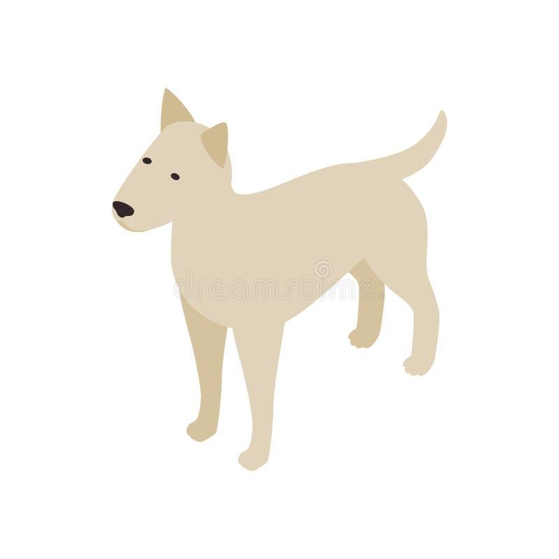 Ícone do cão de Pitbull, estilo 3d isométrico ilustração royalty free