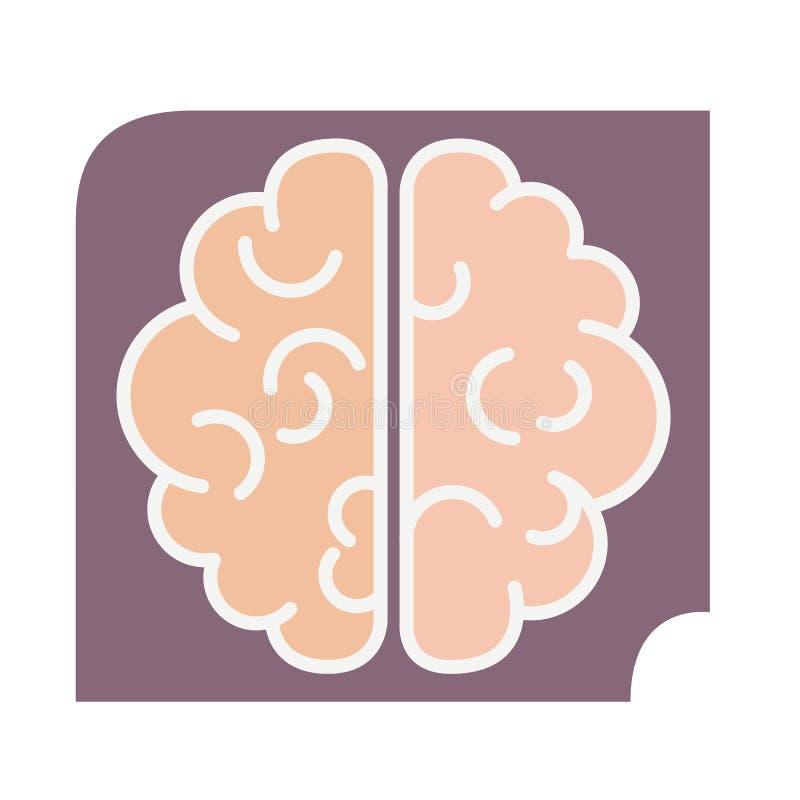 Ícone do cérebro do vetor no estilo liso do inclinação ilustração do vetor