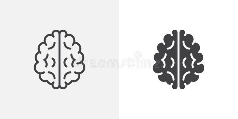 Ícone do cérebro humano ilustração do vetor