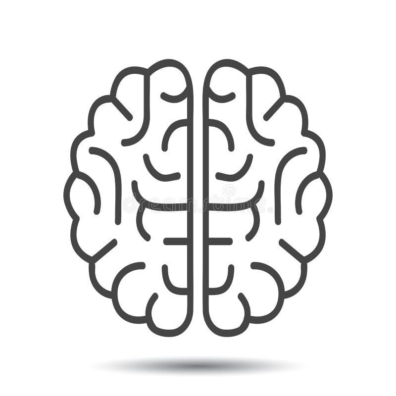 Ícone do cérebro humano - vetor ilustração stock