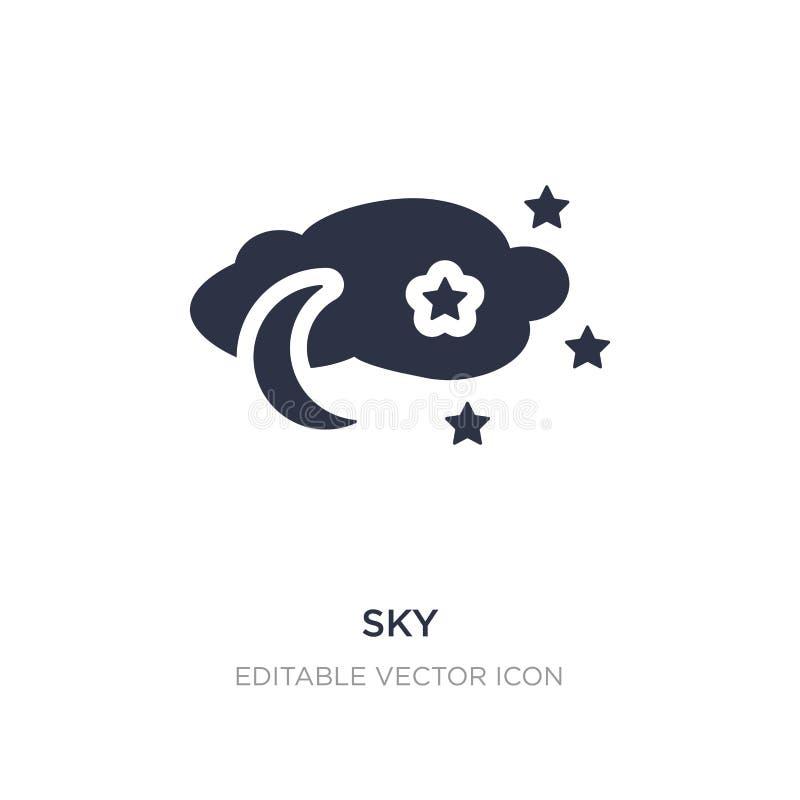 ícone do céu no fundo branco Ilustração simples do elemento do conceito do tempo ilustração stock