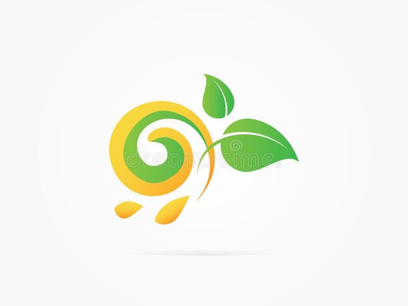 Ícone do círculo da árvore do verde da ilustração do vetor imagem de stock royalty free