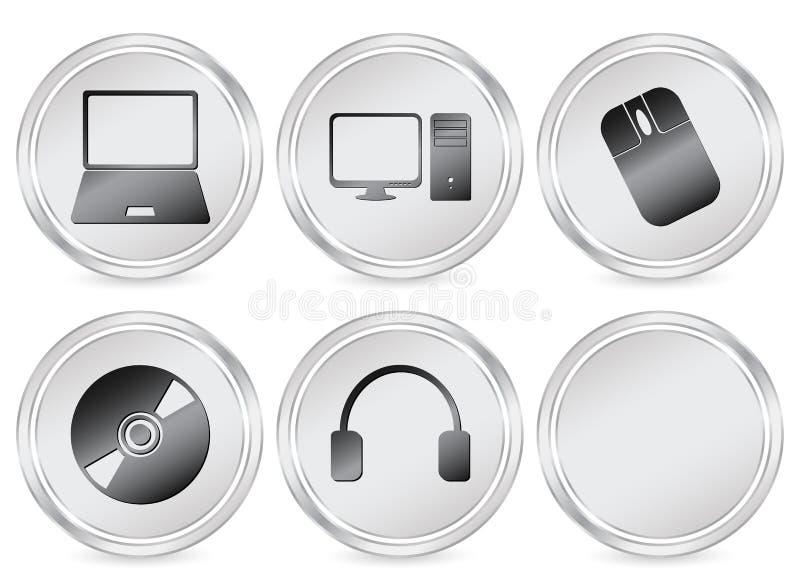 Ícone do círculo da eletrônica ilustração royalty free