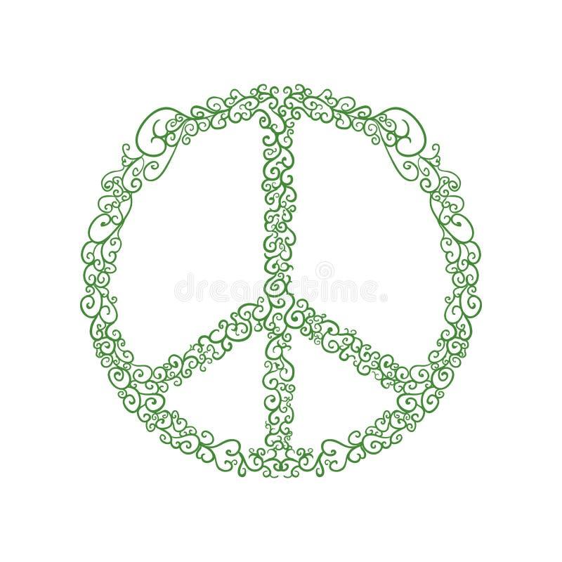 Ícone do círculo da hippie Projeto do amor e da paz Gráfico de vetor ilustração do vetor