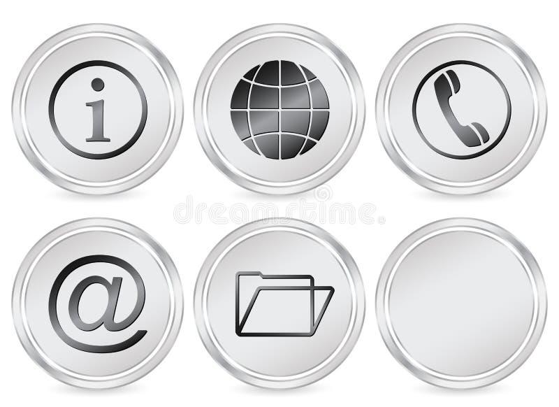 Ícone do círculo da informação ilustração royalty free