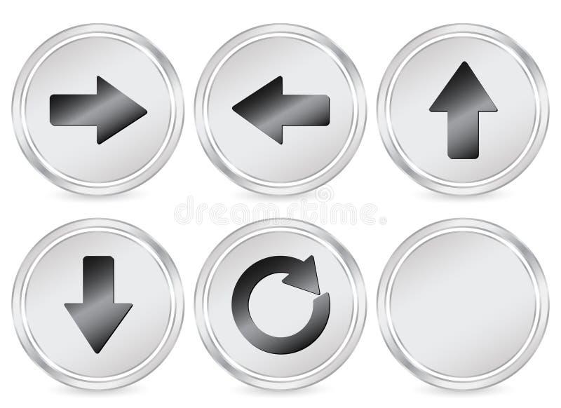 Ícone do círculo da seta ilustração stock