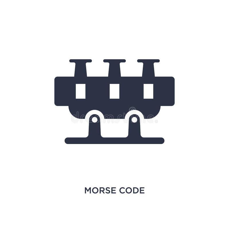 ícone do código Morse no fundo branco Ilustração simples do elemento do conceito de uma comunicação ilustração stock