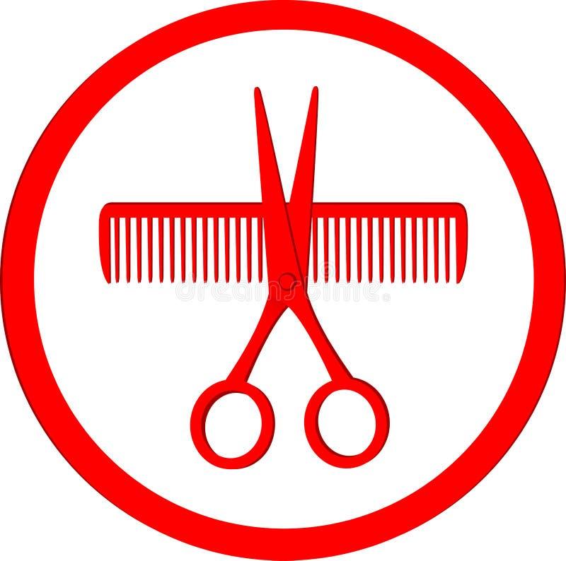 Ícone do cabeleireiro ilustração stock