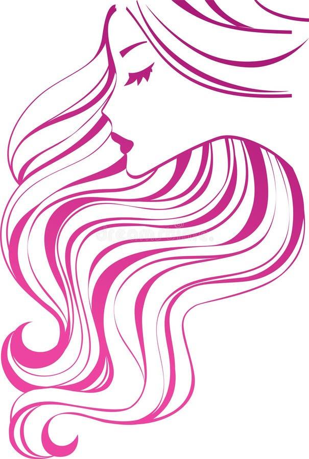 Ícone do cabelo ilustração do vetor