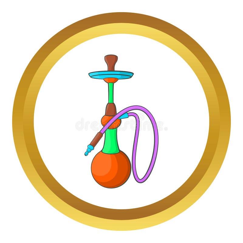 Ícone do cachimbo de água ilustração do vetor