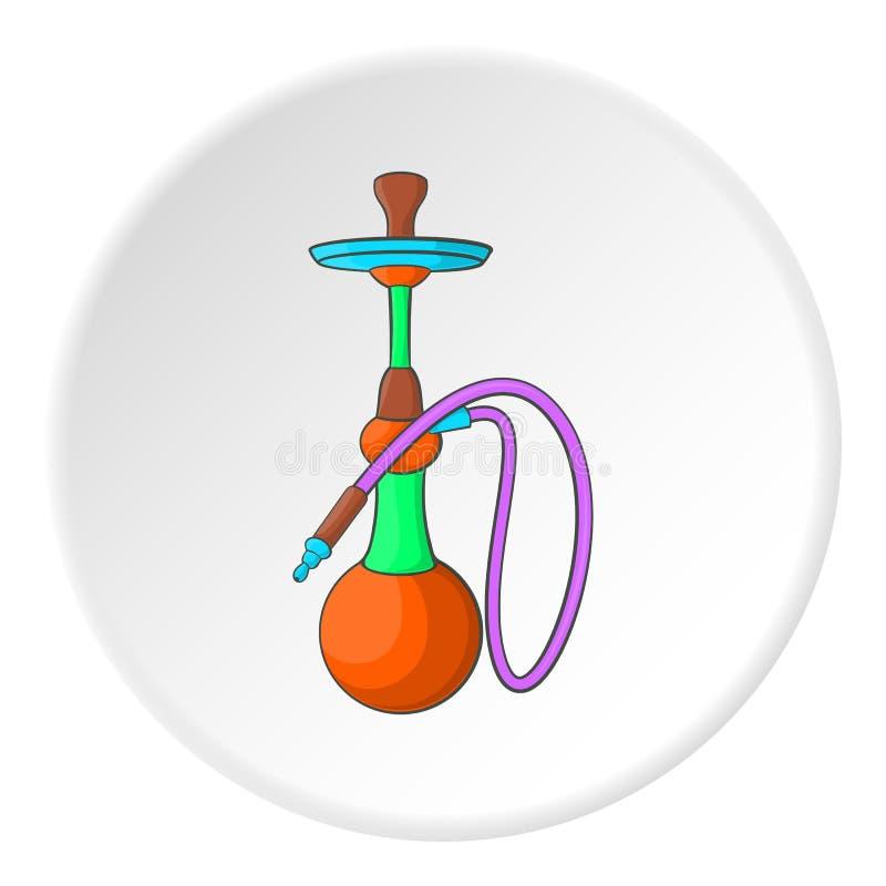 Ícone do cachimbo de água, estilo dos desenhos animados ilustração royalty free
