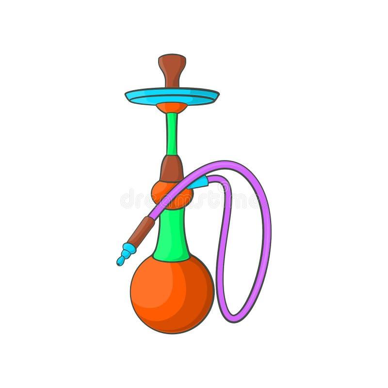 Ícone do cachimbo de água, estilo dos desenhos animados ilustração do vetor