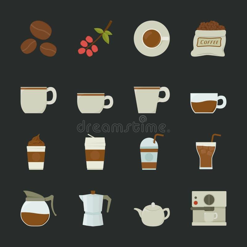 Ícone do café ilustração do vetor