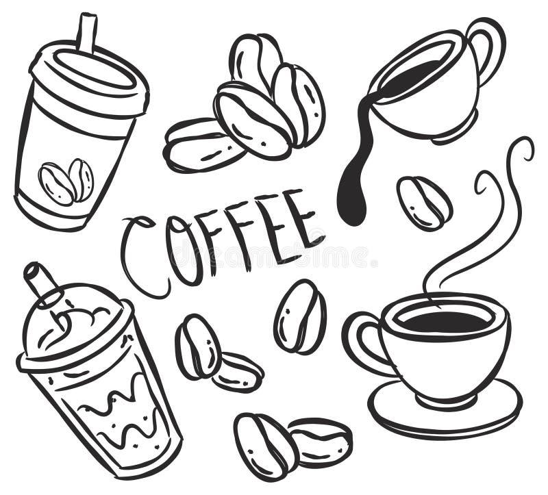 Download Ícone do café ilustração stock. Ilustração de mão, feijão - 29828617