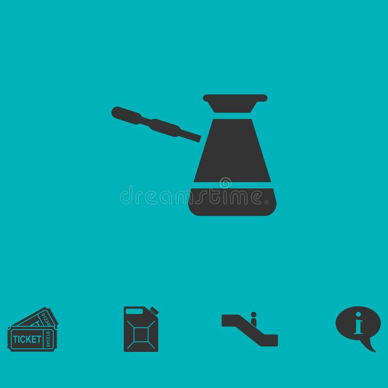 Ícone do café turco horizontalmente ilustração stock