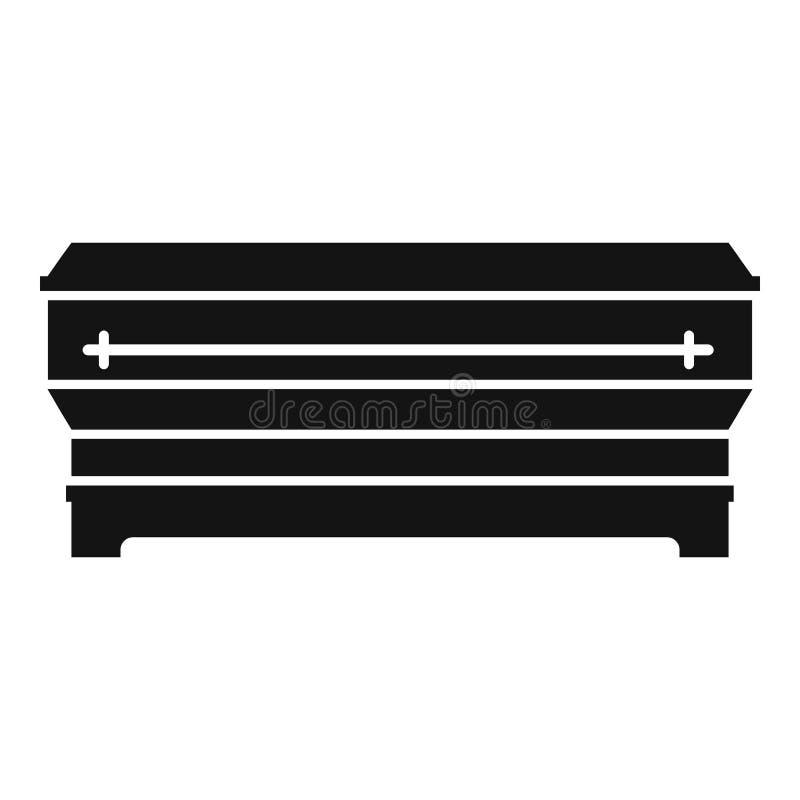 Ícone do caixão, estilo simples ilustração do vetor