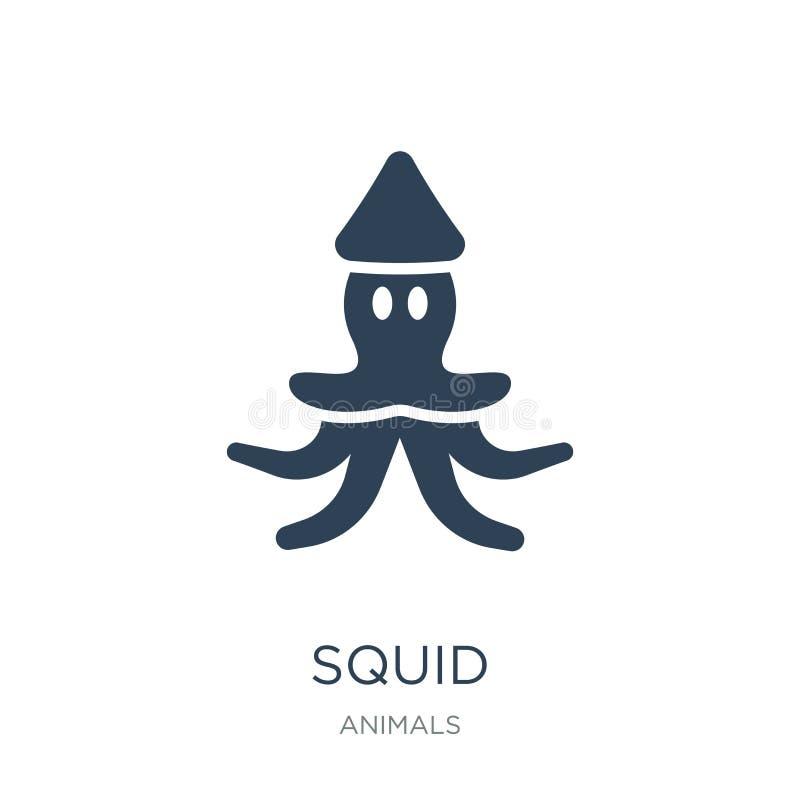 ícone do calamar no estilo na moda do projeto ícone do calamar isolado no fundo branco símbolo liso simples e moderno do ícone do ilustração royalty free