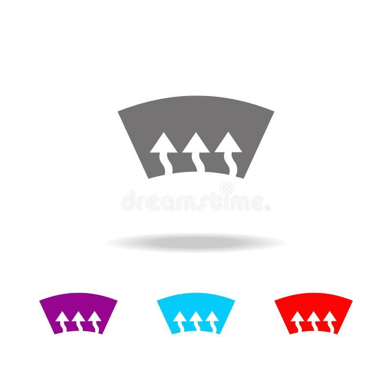 Ícone do calefator da janela de carro Elementos ícones coloridos do reparo do carro de multi Ícone superior do projeto gráfico da ilustração do vetor