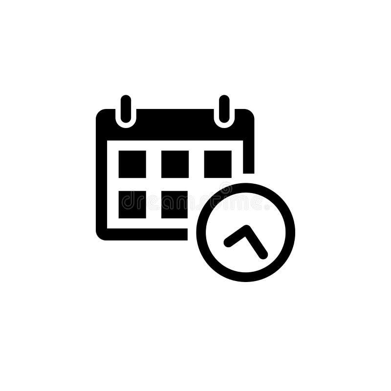 Ícone do calendário no estilo liso ilustração do vetor