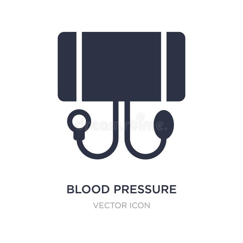 ícone do calibre da pressão sanguínea no fundo branco Ilustração simples do elemento da saúde e do conceito médico ilustração stock