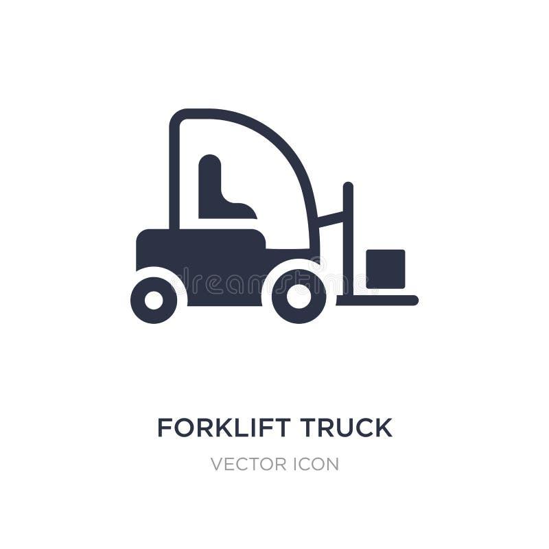 ícone do caminhão de empilhadeira no fundo branco Ilustração simples do elemento do conceito do transporte ilustração royalty free