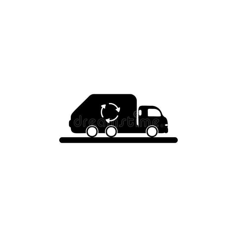 Ícone do caminhão de lixo O ícone detalhado da ecologia assina o ícone Projeto gráfico da qualidade superior Um do ícone da coleç ilustração do vetor
