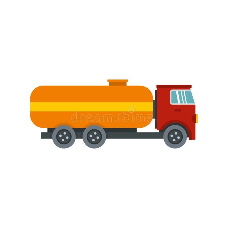 Ícone do caminhão de petroleiro, estilo liso ilustração stock