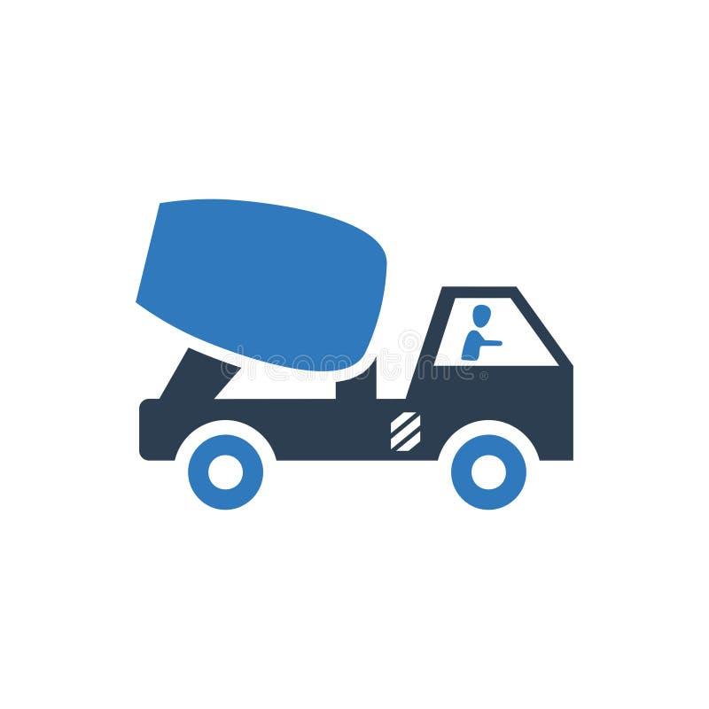Ícone do caminhão do misturador de cimento ilustração royalty free