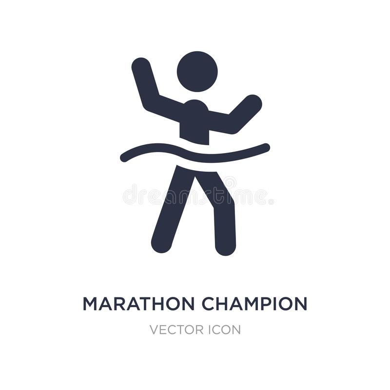 ícone do campeão da maratona no fundo branco Ilustração simples do elemento do conceito dos esportes ilustração do vetor