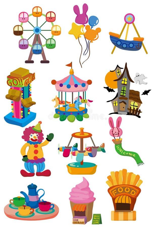 Ícone do campo de jogos dos desenhos animados ilustração royalty free