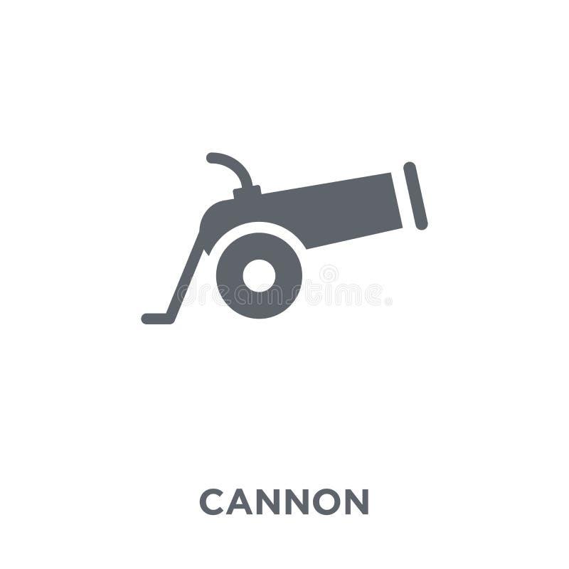 Ícone do canhão da coleção do exército ilustração stock