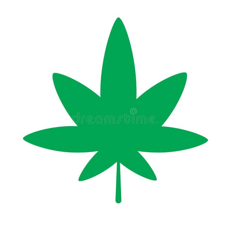 ícone do cannabis ilustração do vetor