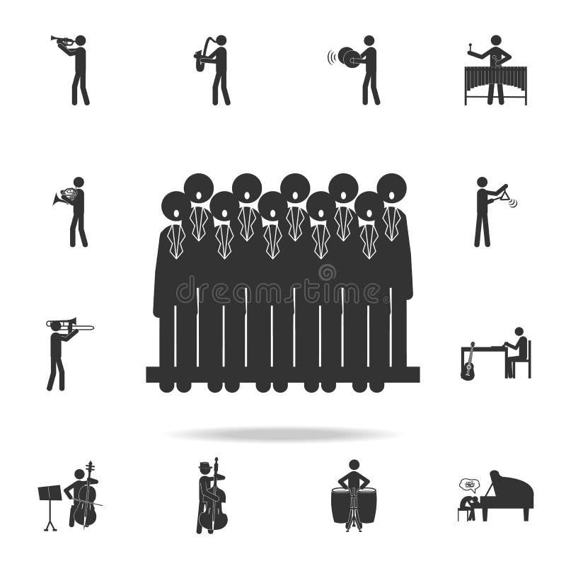 Ícone do canto do coro Grupo detalhado de ícones da música Projeto gráfico da qualidade superior Um dos ícones da coleção para We ilustração stock